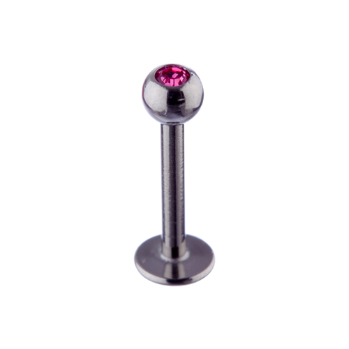 Micro Labret Rose Jewel 1.2x8 Steel