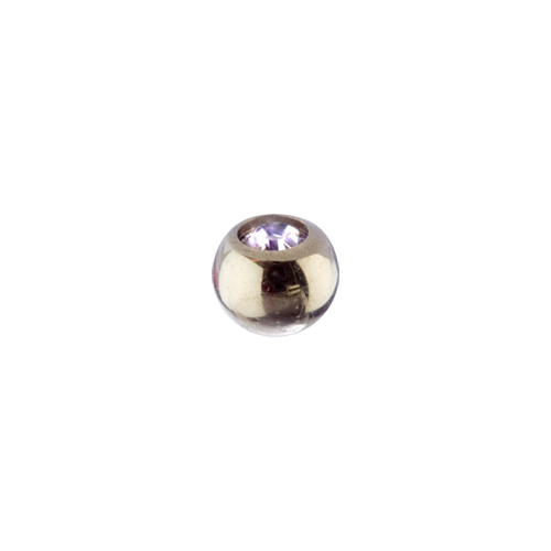 Jewel Ball Clear 1.6x5mm Gold Steel