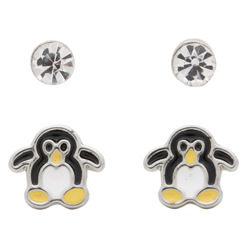 Rhodium  Crystal + Penguin
