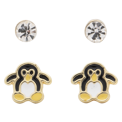 Gold Crystal + Penguin