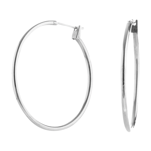 Silver X-Large Click Hoop