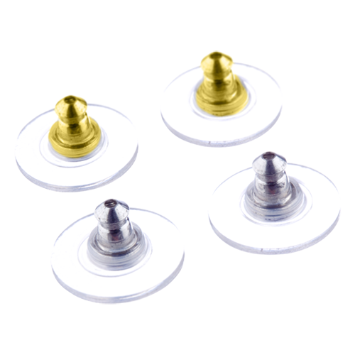 Earring Supports Gold & Silver