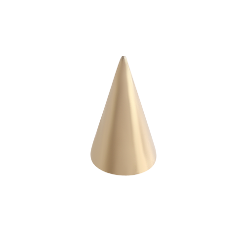Long Cone 1.6x4x7mm Gold Steel
