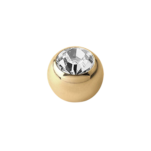 Jewel Ball CZ 1.6x3mm 18ct