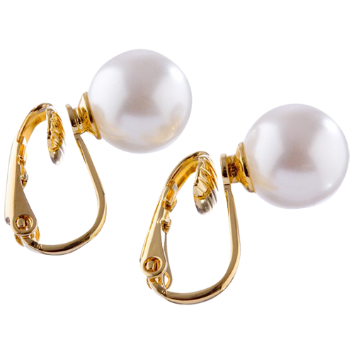 Gold 8mm Pearl Clip On