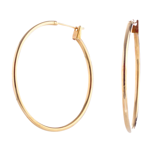 Gold X-Large Click Hoop