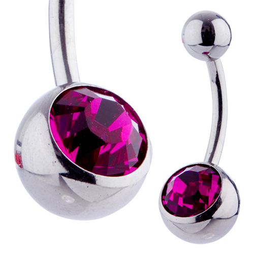 Jewel Banana 10mm Fuchsia