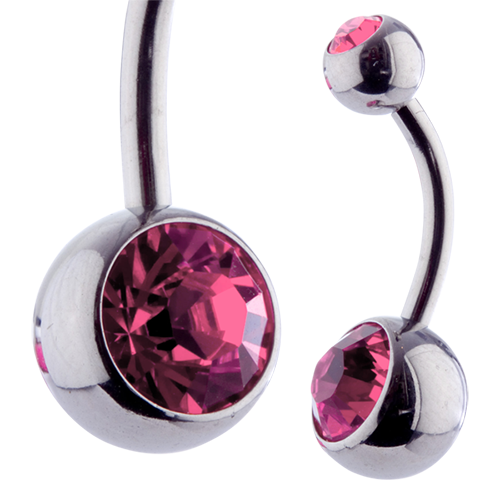 Double Jewel Banana 10mm Rose
