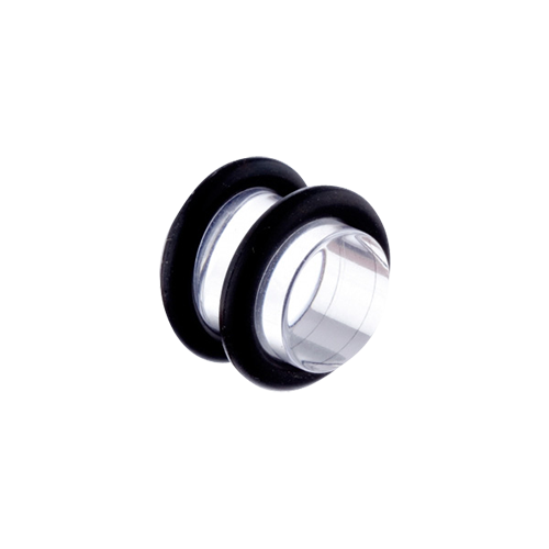 Plug 10mm Black or Clear Acrylic