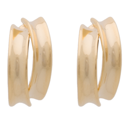 Gold 2 Strip Hoop Clip